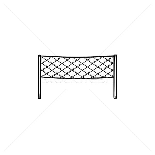 Badminton net schets doodle icon Stockfoto © RAStudio