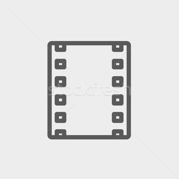 Negativo fino linha ícone teia móvel Foto stock © RAStudio