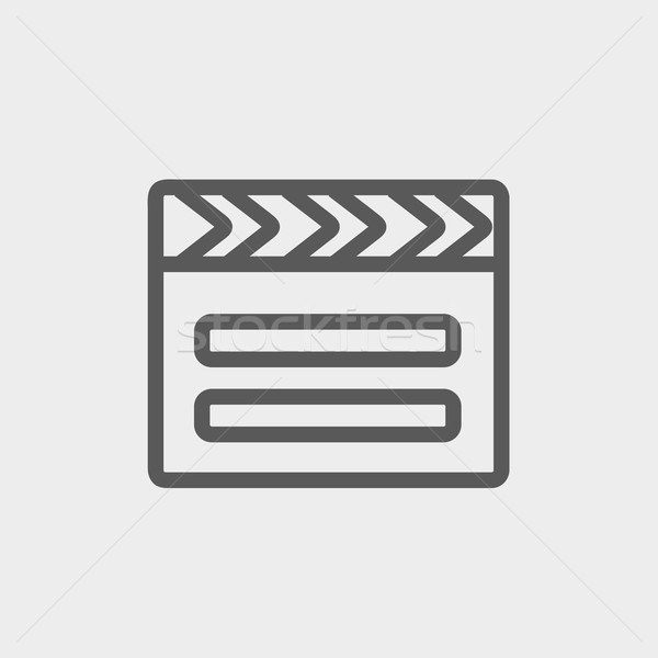 Clapboard thin line icon Stock photo © RAStudio
