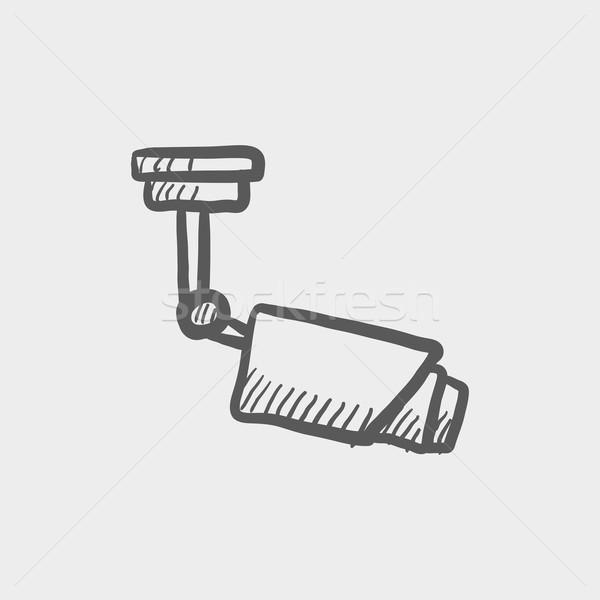 屋上 アンテナ スケッチ アイコン ウェブ 携帯 ストックフォト © RAStudio