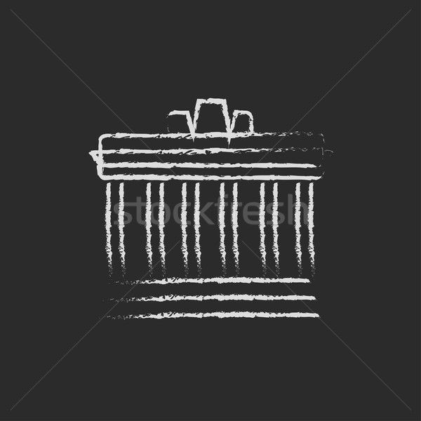 Acropolis of Athens icon drawn in chalk. Stock photo © RAStudio