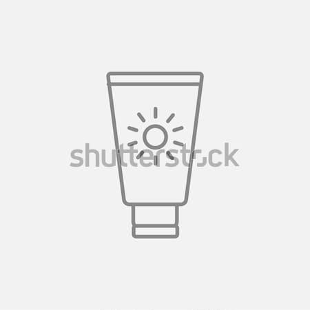 Protetor solar ícone giz lousa Foto stock © RAStudio