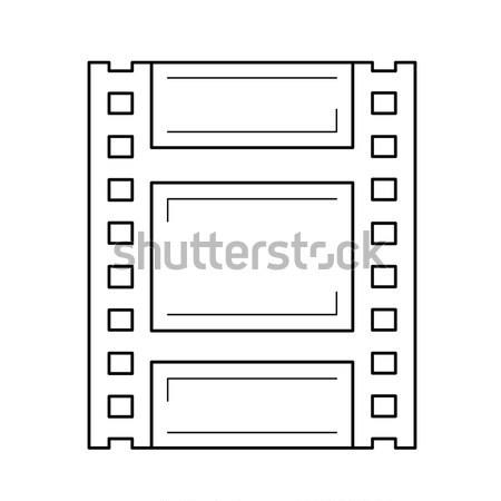Négatifs icône craie dessinés à la main tableau noir Photo stock © RAStudio