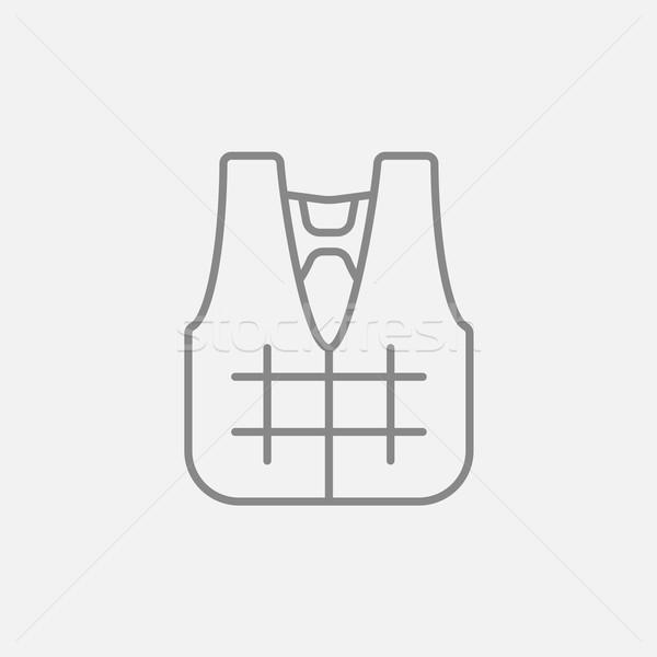 Stock photo: Life vest line icon.