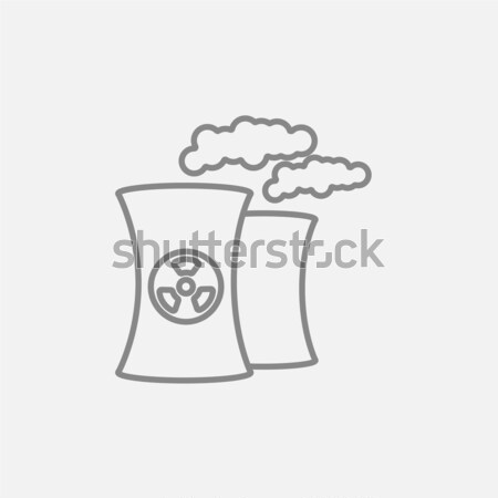 Nuclear power plant line icon. Stock photo © RAStudio
