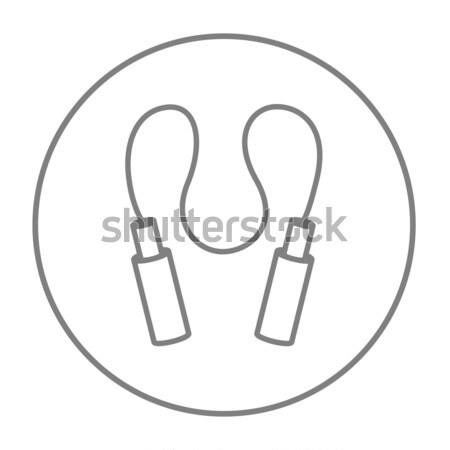 Jumping rope line icon. Stock photo © RAStudio