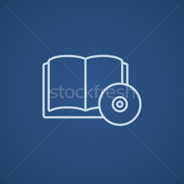 Audiobook and cd disc line icon. Stock photo © RAStudio