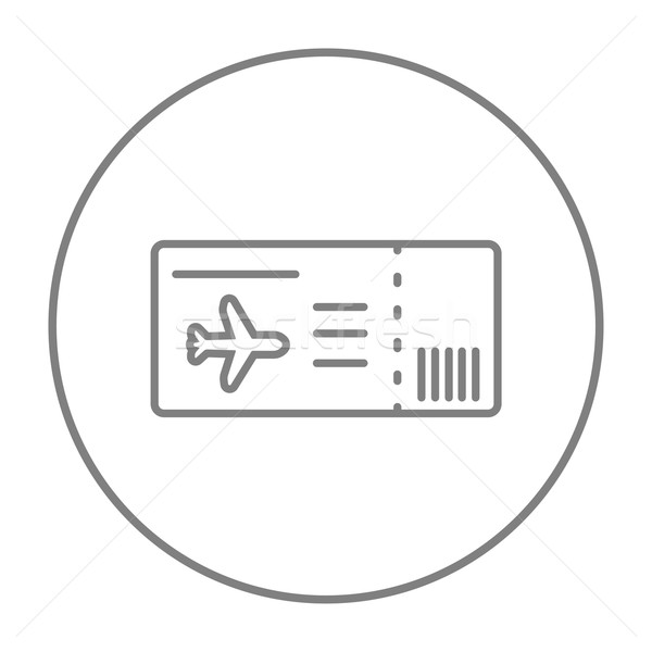 Flug Ticket line Symbol Web mobile Stock foto © RAStudio
