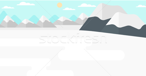 Background of snow capped mountain. Stock photo © RAStudio