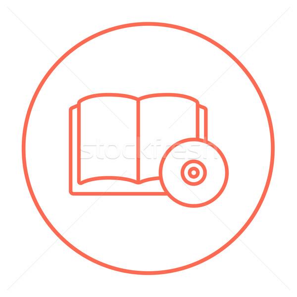 Cd disk hat ikon web hareketli Stok fotoğraf © RAStudio