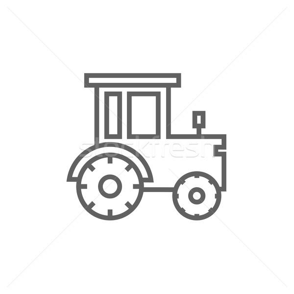 Tractor línea icono esquinas web móviles Foto stock © RAStudio