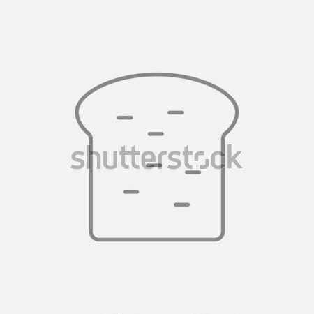 Single slice of bread line icon. Stock photo © RAStudio