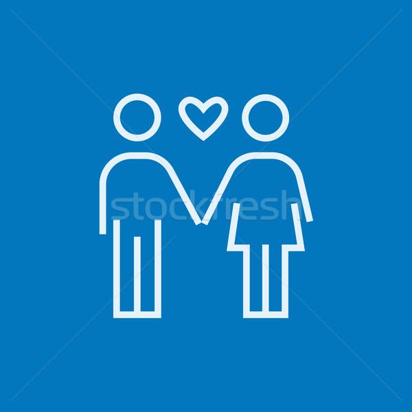 Couple in love line icon. Stock photo © RAStudio