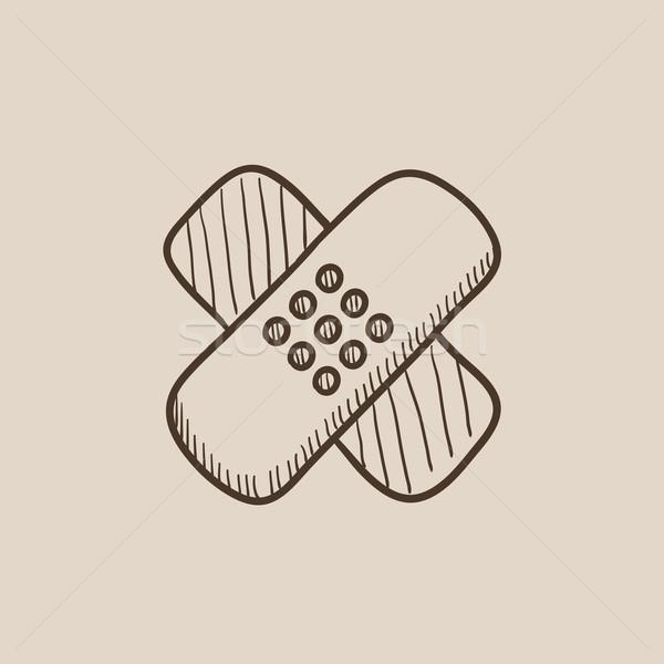 Adhesive bandages sketch icon. Stock photo © RAStudio