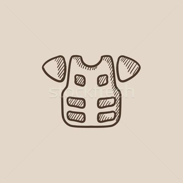 Motorcycle suit sketch icon. Stock photo © RAStudio