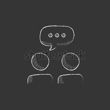 Tambourine. Drawn in chalk icon. Stock photo © RAStudio