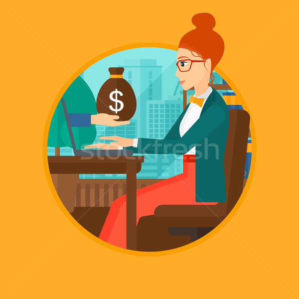 Woman earning money from online business. Stock photo © RAStudio