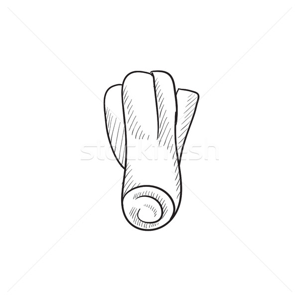 Leek sketch icon. Stock photo © RAStudio