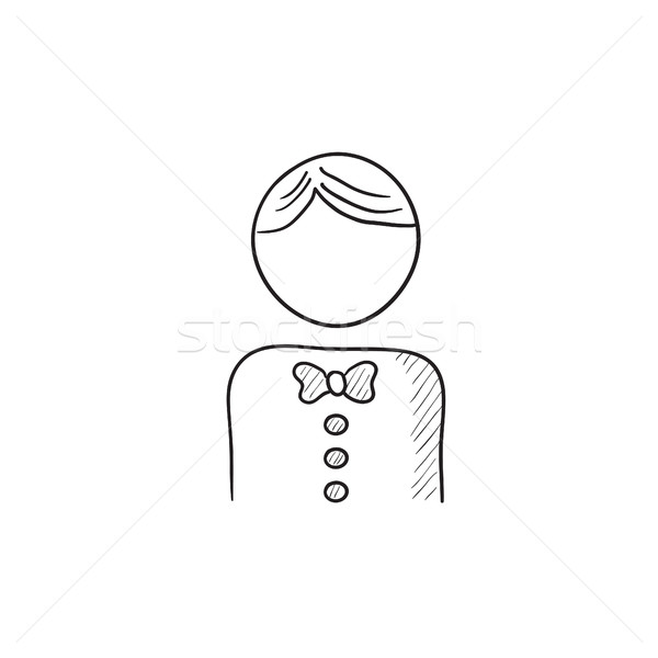 Waiter sketch icon. Stock photo © RAStudio