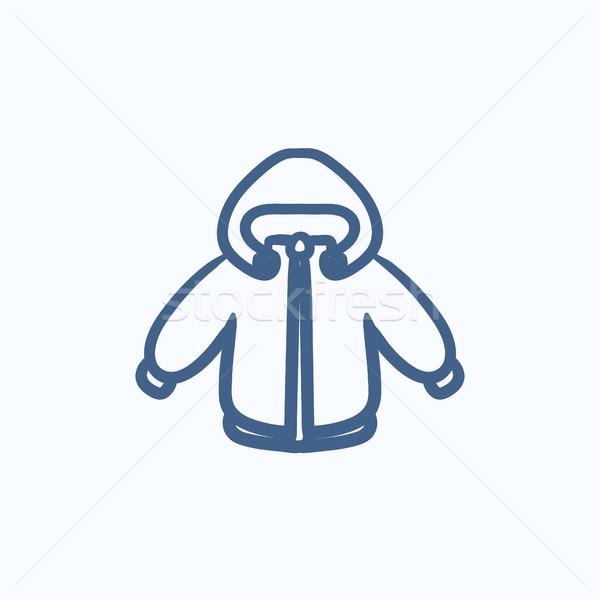 Winter jacket sketch icon. Stock photo © RAStudio