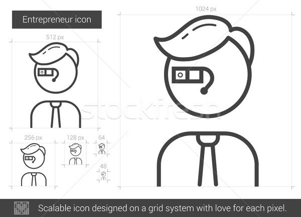 Entrepreneur line icon. Stock photo © RAStudio