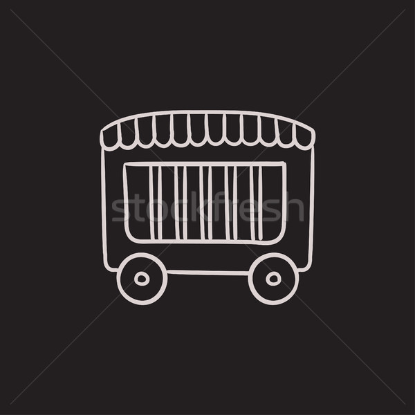 Circus wagon sketch icon. Stock photo © RAStudio