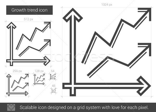 роста тенденция линия икона вектора изолированный Сток-фото © RAStudio