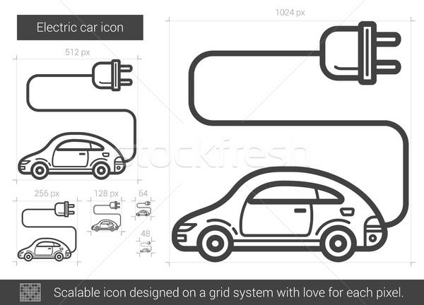 Electric car line icon. Stock photo © RAStudio
