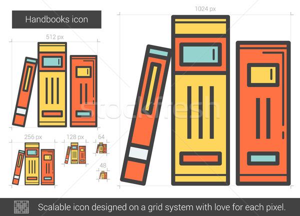 Handbooks line icon. Stock photo © RAStudio