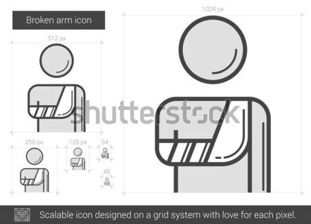 Broken arm line icon. Stock photo © RAStudio