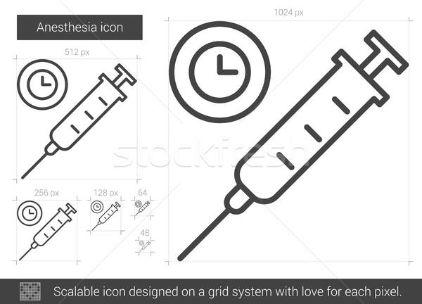 анестезия линия икона вектора изолированный белый Сток-фото © RAStudio