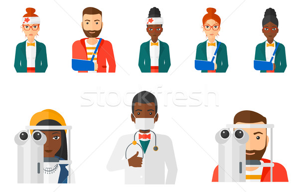 Vetor conjunto médico mulher olho Foto stock © RAStudio