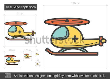 Rescue helicopter line icon. Stock photo © RAStudio