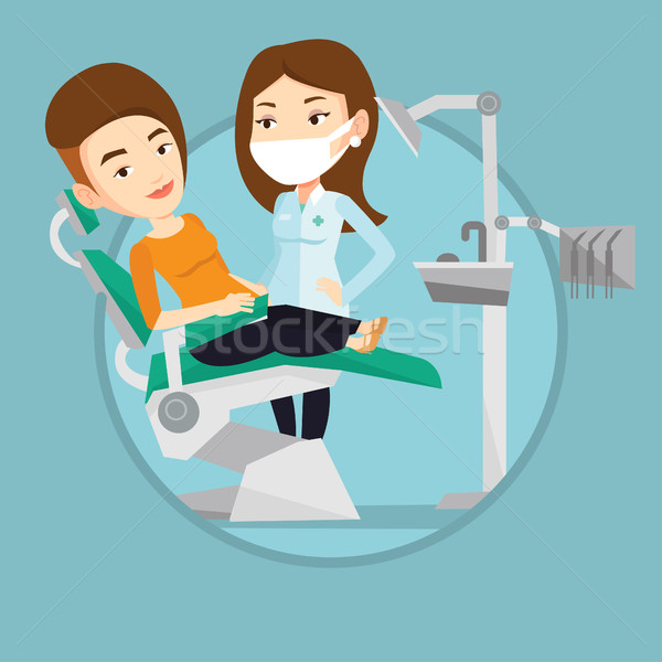 Patient and doctor at dentist office. Stock photo © RAStudio