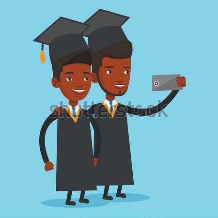 卒業生 アフリカ 卒業 携帯電話 ベクトル ストックフォト © RAStudio
