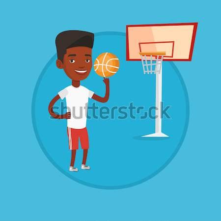 Jóvenes pelota África baloncesto Foto stock © RAStudio