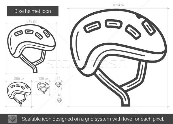 Bike helmet line icon. Stock photo © RAStudio