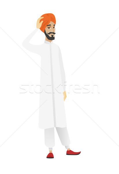 Young hindu businessman scratching his head Stock photo © RAStudio