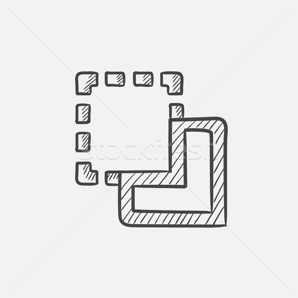 Merge sketch icon. Stock photo © RAStudio