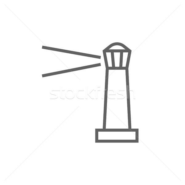 Latarni line ikona internetowych komórkowych Zdjęcia stock © RAStudio