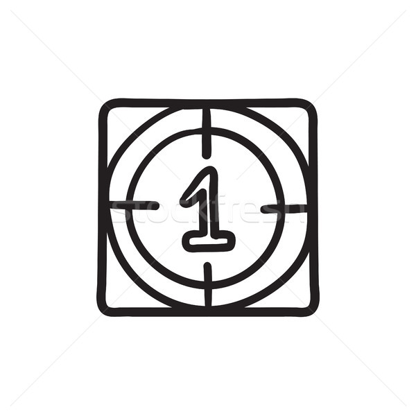 Countdown sketch icon. Stock photo © RAStudio