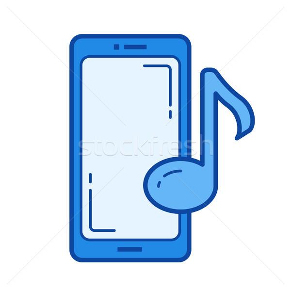 Music player aplicativo linha ícone vetor isolado Foto stock © RAStudio