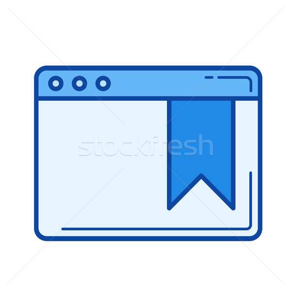 Bookmark line icon. Stock photo © RAStudio