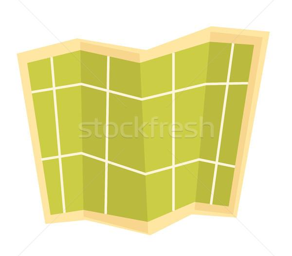 Paper map vector cartoon illustration. Stock photo © RAStudio