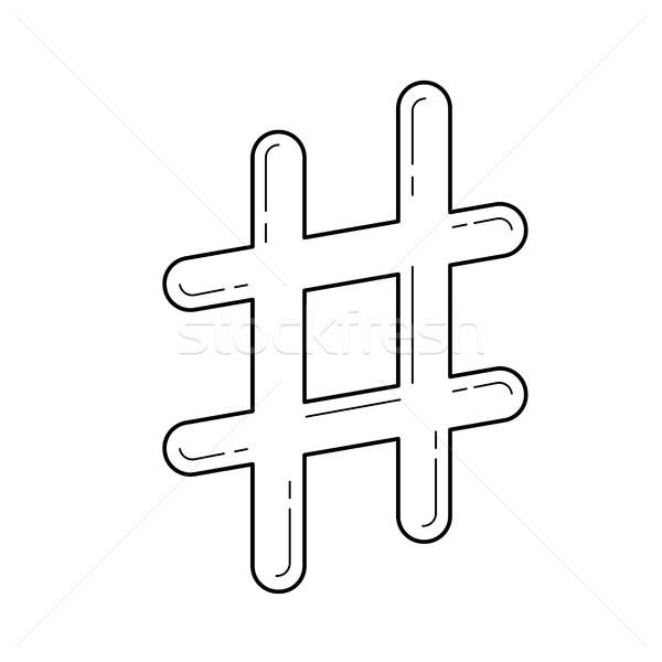 Vonal ikon vektor izolált fehér éles Stock fotó © RAStudio