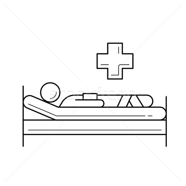 Patient line icon. Stock photo © RAStudio