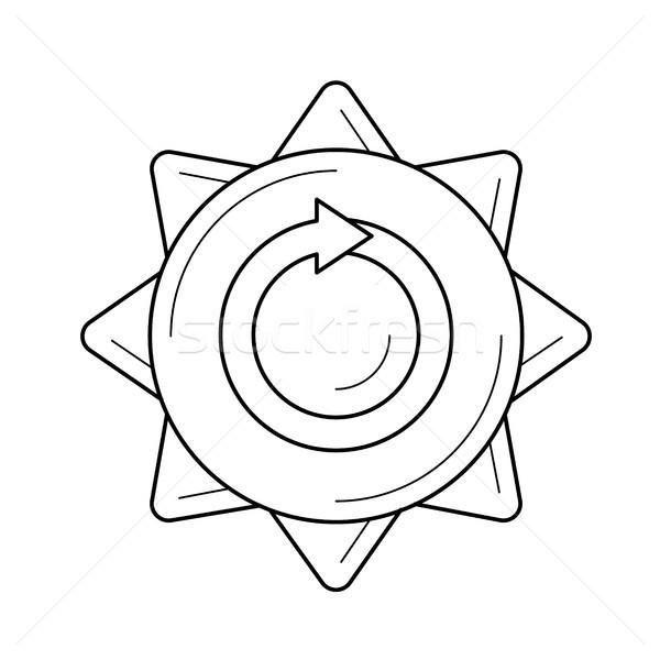 Hernieuwbare energie vector lijn icon geïsoleerd witte Stockfoto © RAStudio