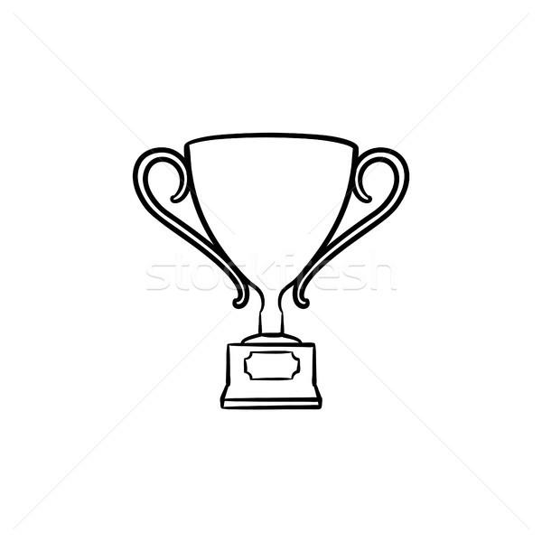 Award hand drawn sketch icon. Stock photo © RAStudio