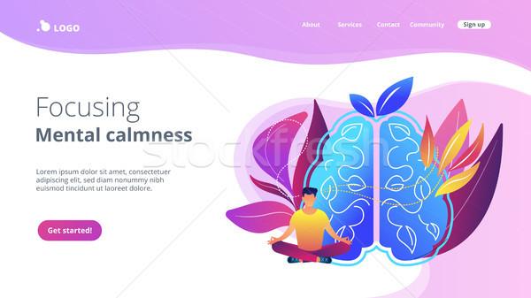 Focusing and mental calmness landing page. Stock photo © RAStudio