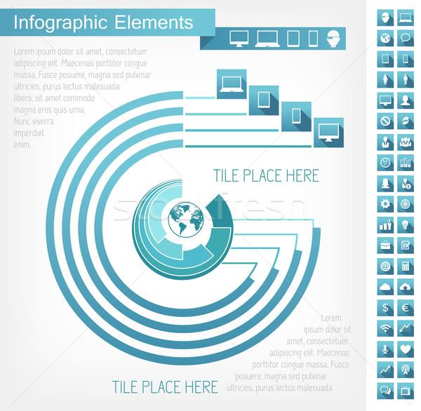 Stock fotó: Ipar · infografika · elemek · alkalom · vidék · eps